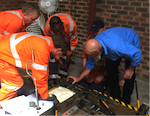 Signal electricians learn how to adjust points machine at Competency Australia